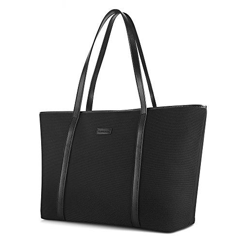 chiceco nylon arbeit shopper tasche handtasche damen blau und braun sch ne schmucksachen. Black Bedroom Furniture Sets. Home Design Ideas