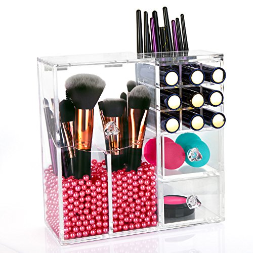 hbf pinsel aufbewahrung mit lippenstift organizer. Black Bedroom Furniture Sets. Home Design Ideas