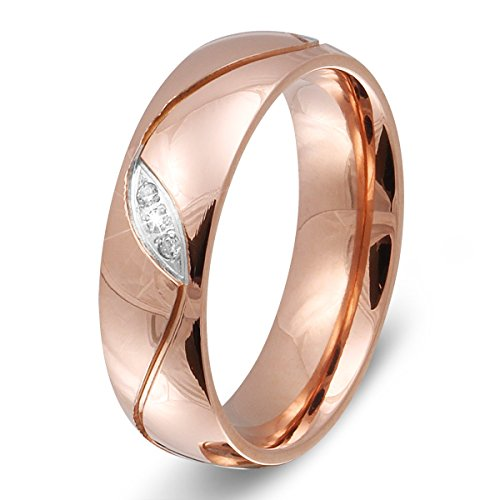 bungsa 60 19 1 rosegold ring mit stein zirkonia kristall sandoptik schmal edelstahl verlobung. Black Bedroom Furniture Sets. Home Design Ideas