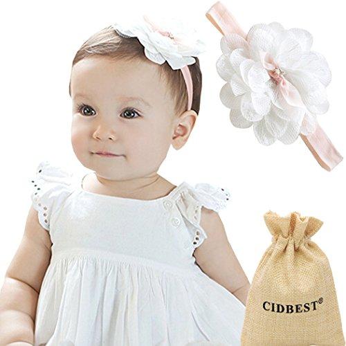 7366ab1e688b64 CIDBEST® Niedlich Blumen Baby Mädchen Kids Haarband /Stirnband Newborn  Haarband Fotografie Haarband Nette Design weich und bequem Baby Stirnband  Kopfband ...