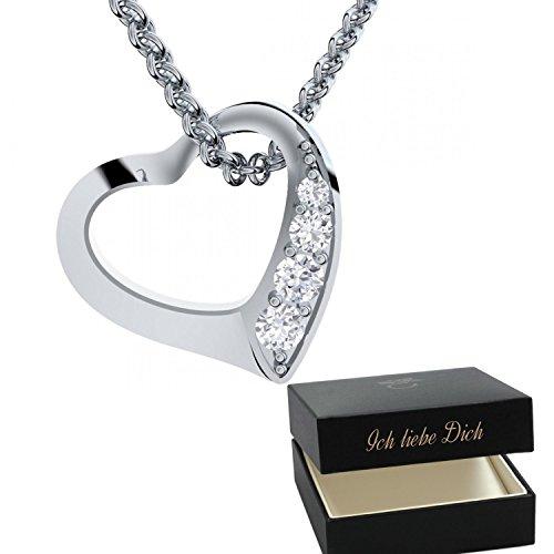 Herzkette Gold Gelbgold Vergoldet Kette Damen Halskette
