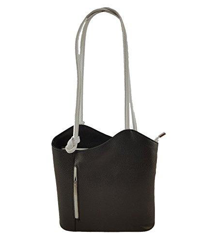 b30e41346c13b Freyday 2 in 1 Handtasche Rucksack Designer Luxus Henkeltasche aus Echtleder  in versch. Designs