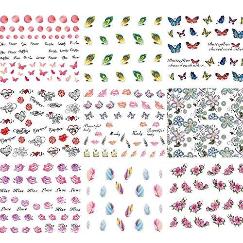 Acryl Puder & Flüssigkeiten 18 Stücke Mix Farben Acrylpuder-staub Dekoration Set Für Falsche Tipps Nail Art Einfach Zu Schmieren